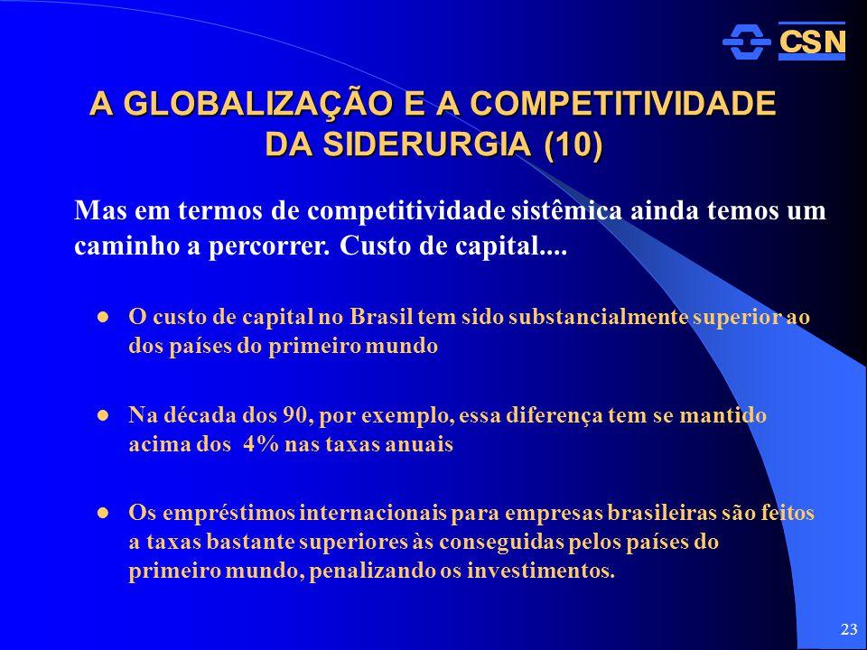 A GLOBALIZAÇÃO E A COMPETITIVIDADE DA SIDERURGIA (10)