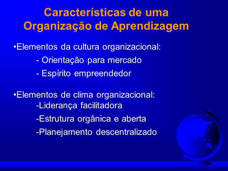 Características de uma Organização de Aprendizagem