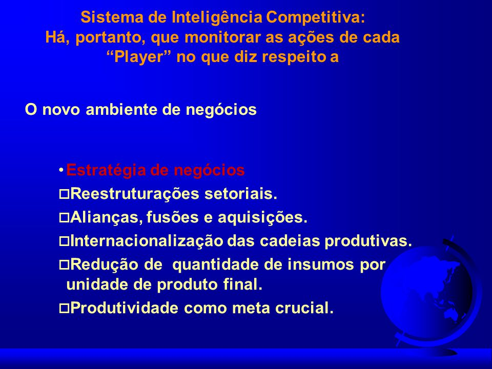 Sistema de Inteligência Competitiva: