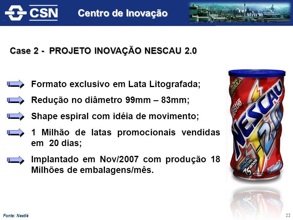 Centro de Inovação Case 2 - PROJETO INOVAÇÃO NESCAU 2.0
