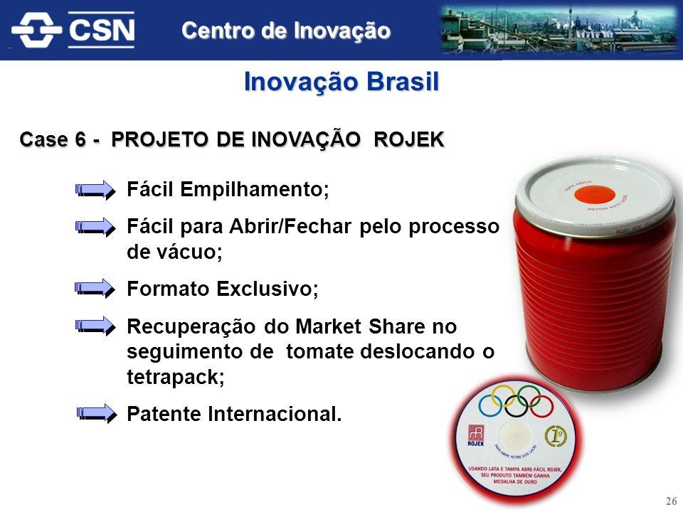 Inovação Brasil Centro de Inovação Case 6 - PROJETO DE INOVAÇÃO ROJEK