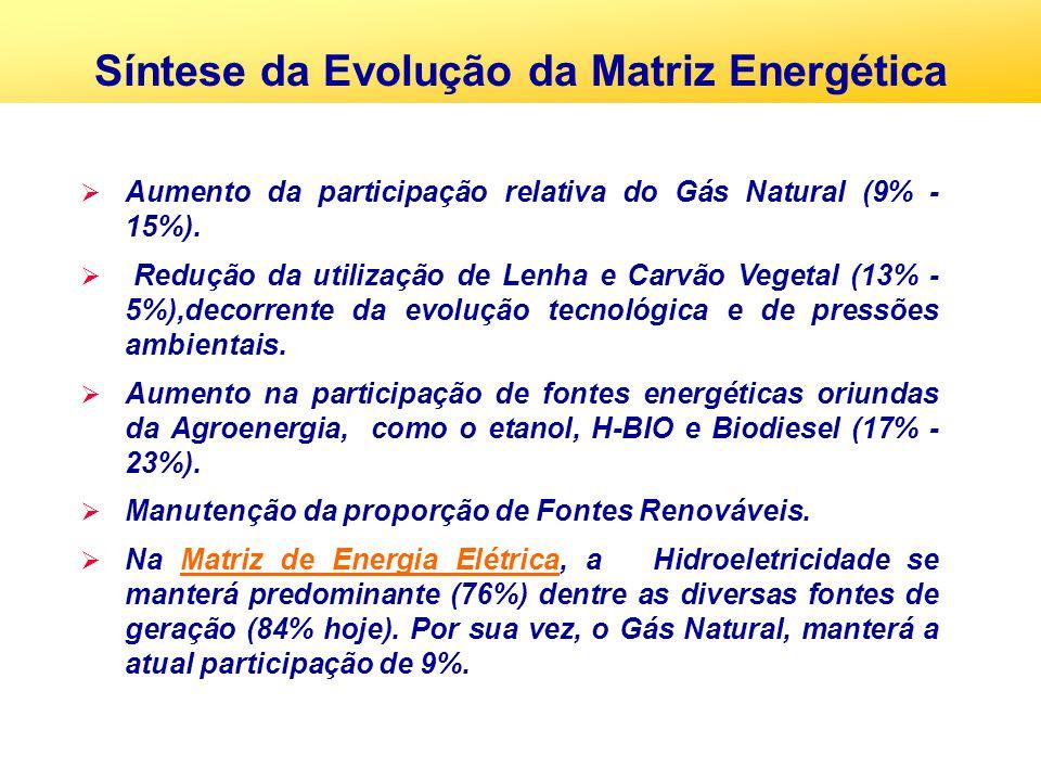 Síntese da Evolução da Matriz Energética