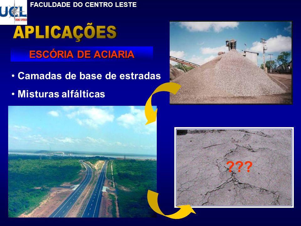 APLICAÇÕES ESCÓRIA DE ACIARIA Camadas de base de estradas