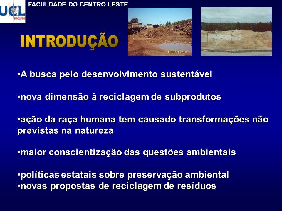 INTRODUÇÃO A busca pelo desenvolvimento sustentável