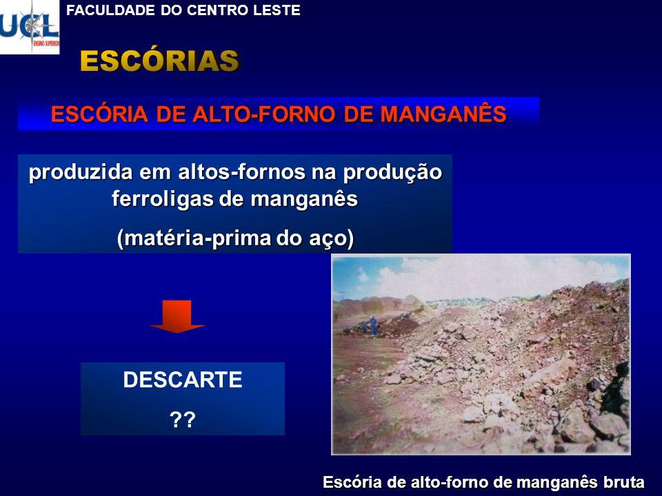 ESCÓRIAS ESCÓRIA DE ALTO-FORNO DE MANGANÊS