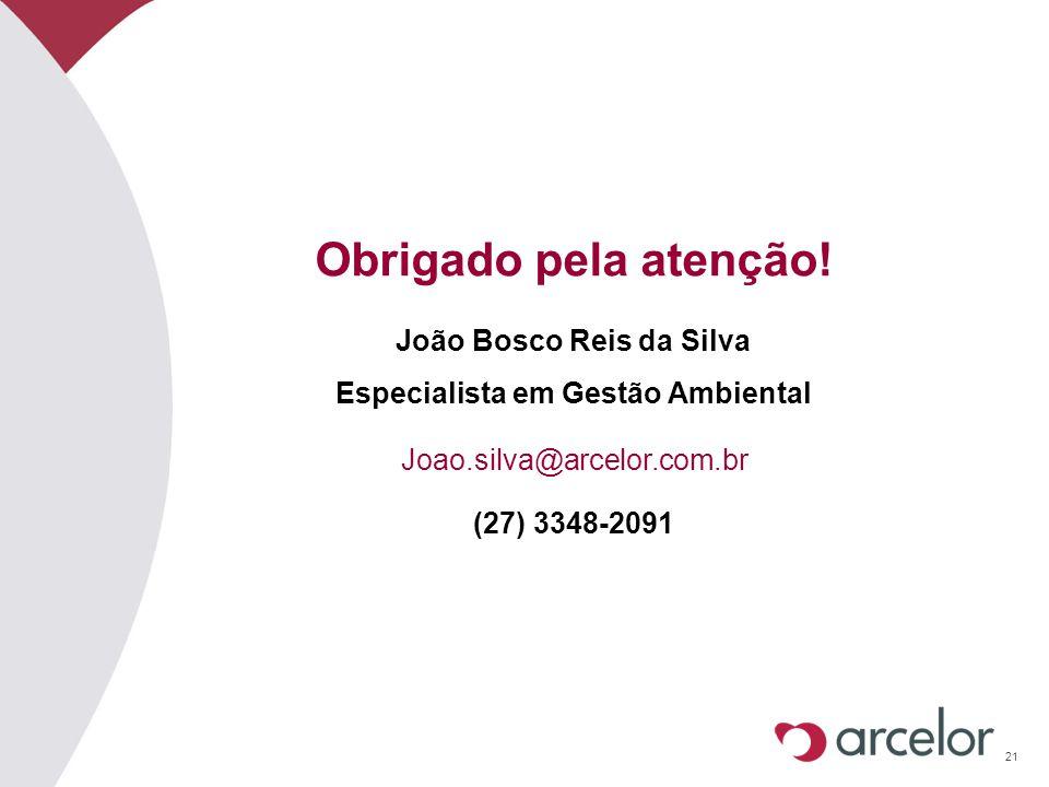 João Bosco Reis da Silva Especialista em Gestão Ambiental