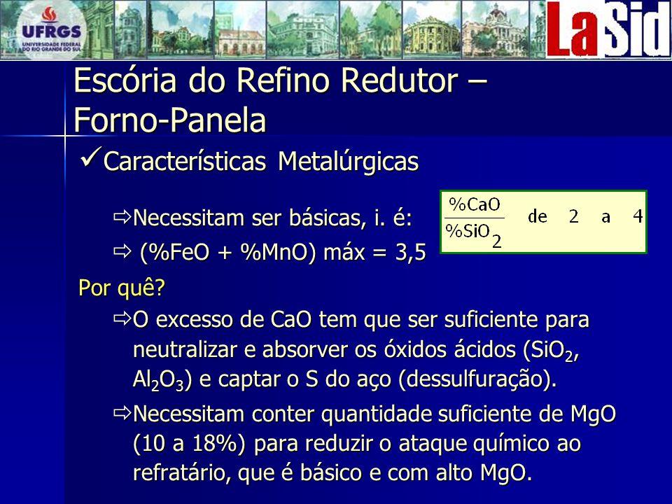 Escória do Refino Redutor – Forno-Panela