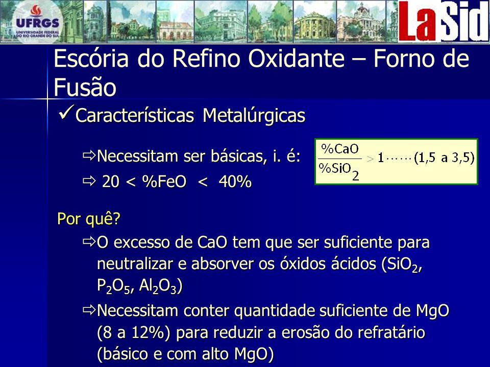 Escória do Refino Oxidante – Forno de Fusão