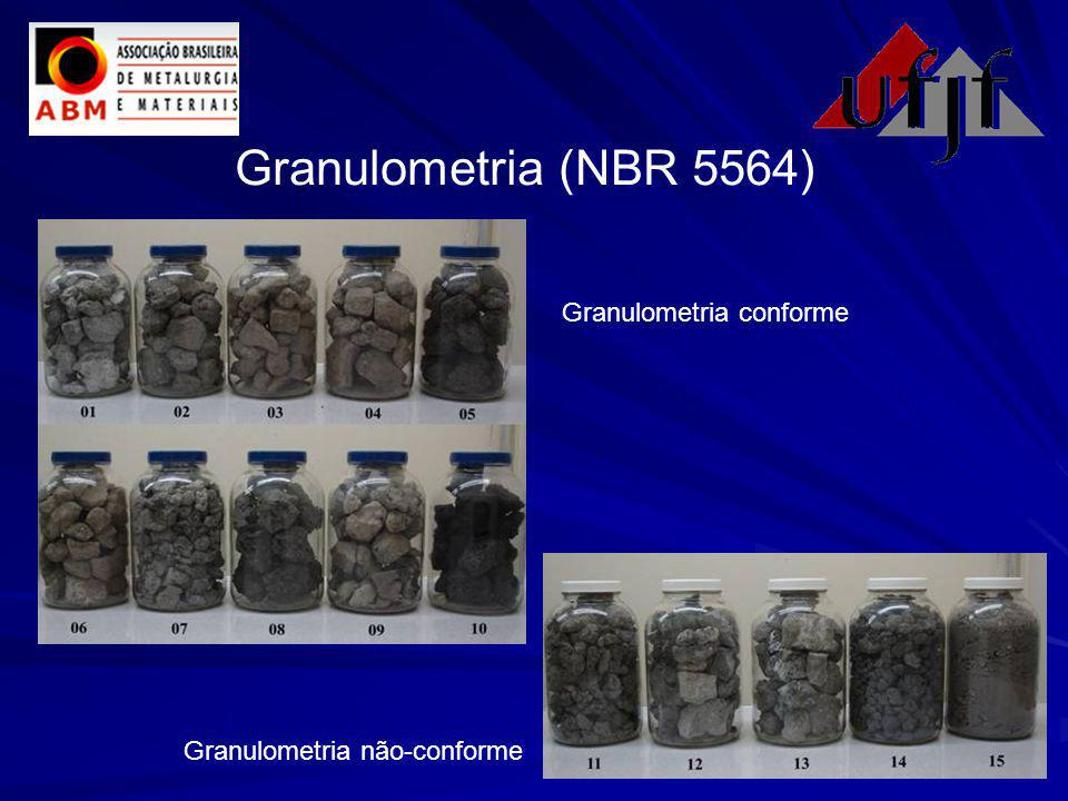 Granulometria (NBR 5564) Granulometria conforme