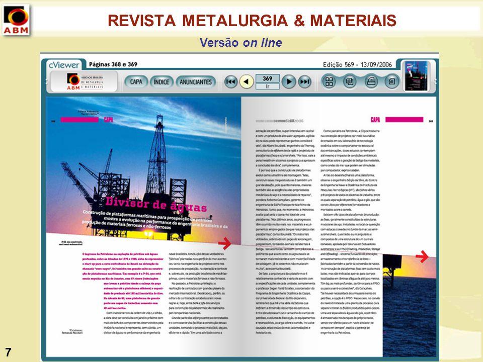 REVISTA METALURGIA & MATERIAIS