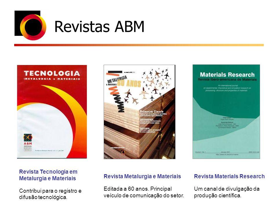 Revistas ABM Revista Tecnologia em Metalurgia e Materiais