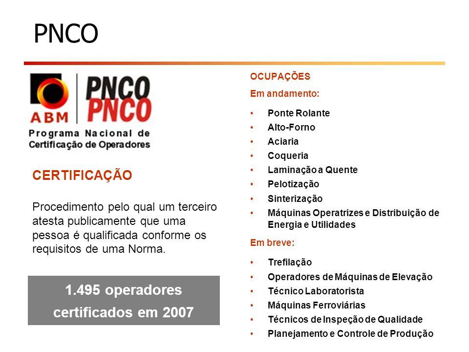 1.495 operadores certificados em 2007