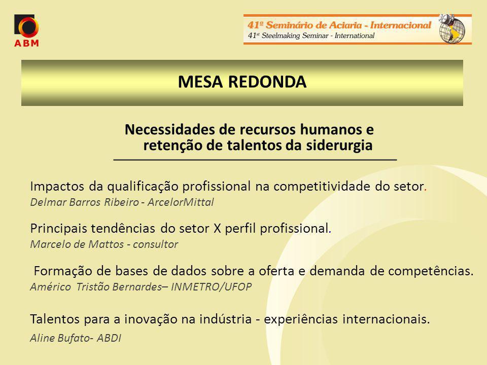 Necessidades de recursos humanos e retenção de talentos da siderurgia