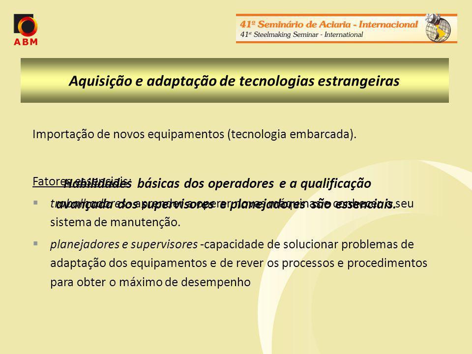 Aquisição e adaptação de tecnologias estrangeiras