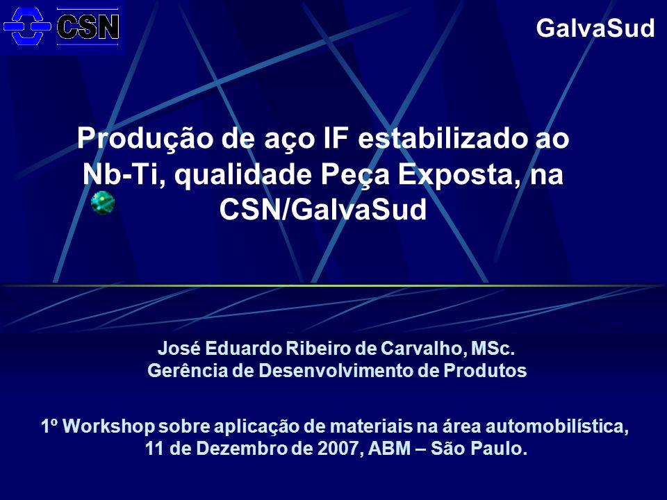 Produção de aço IF estabilizado ao Nb-Ti, qualidade Peça Exposta, na CSN/GalvaSud