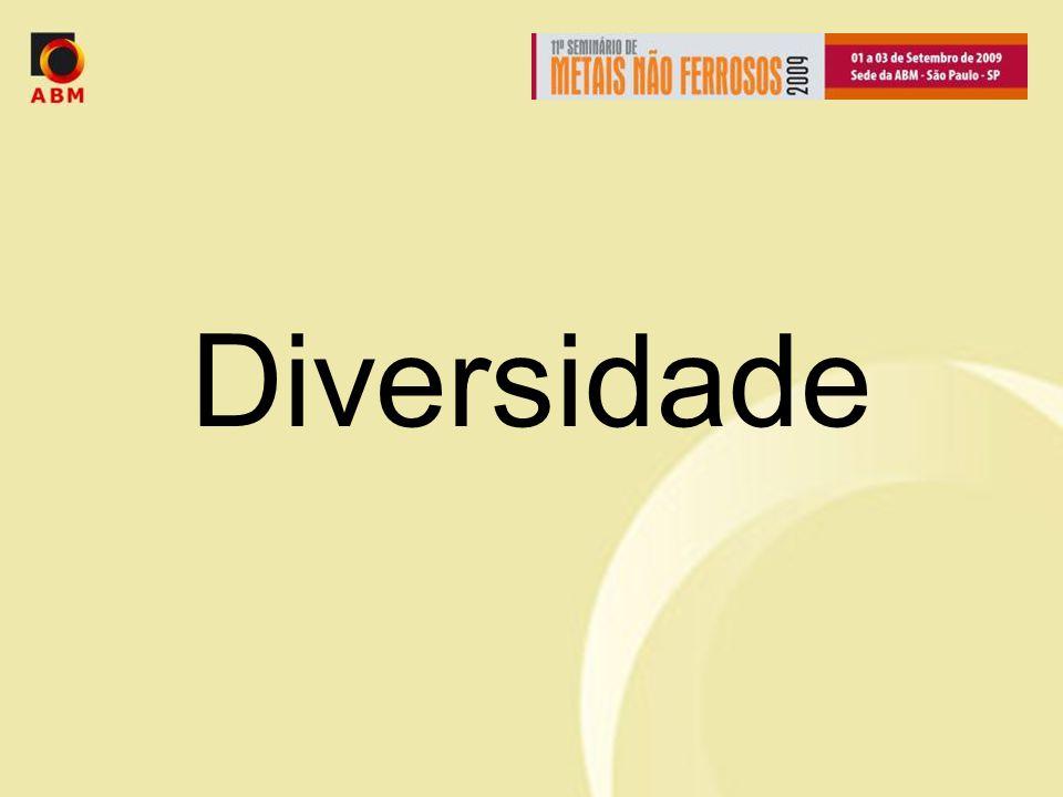 Diversidade Diversidade é a palavra chave.