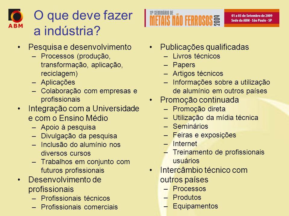 O que deve fazer a indústria