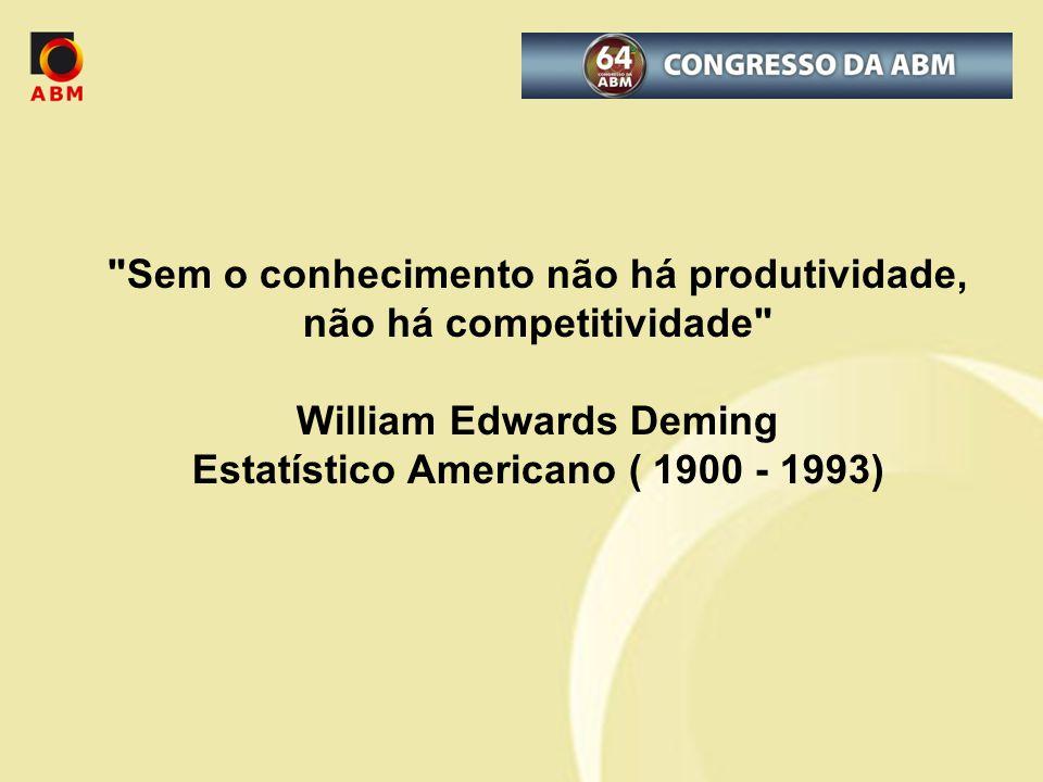 Sem o conhecimento não há produtividade, não há competitividade