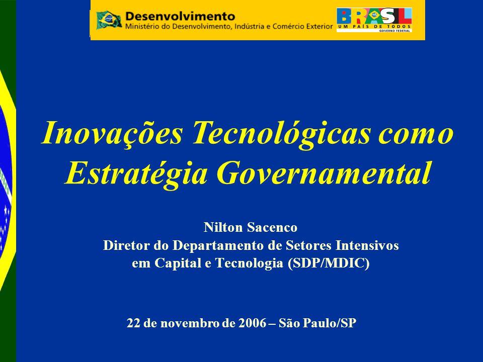 Inovações Tecnológicas como Estratégia Governamental
