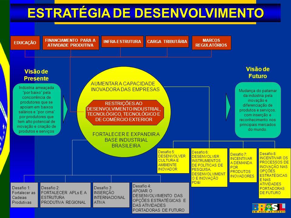 ESTRATÉGIA DE DESENVOLVIMENTO FINANCIAMENTO PARA A ATIVIDADE PRODUTIVA