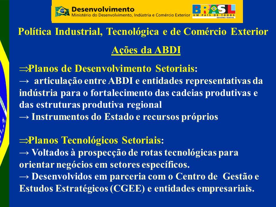 Política Industrial, Tecnológica e de Comércio Exterior