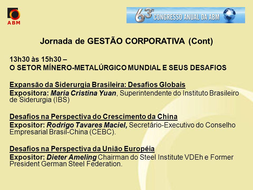 Jornada de GESTÃO CORPORATIVA (Cont)