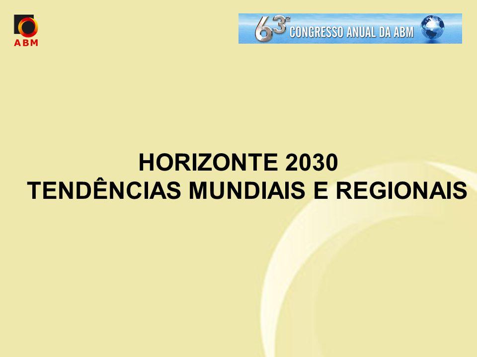HORIZONTE 2030 TENDÊNCIAS MUNDIAIS E REGIONAIS