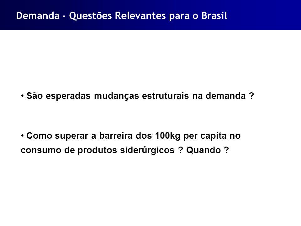 Demanda - Questões Relevantes para o Brasil