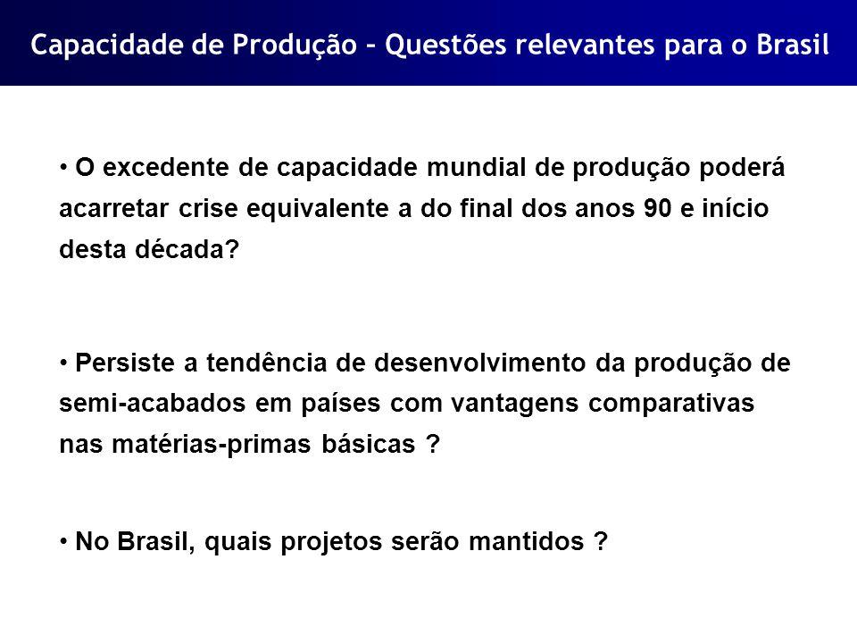 Capacidade de Produção – Questões relevantes para o Brasil