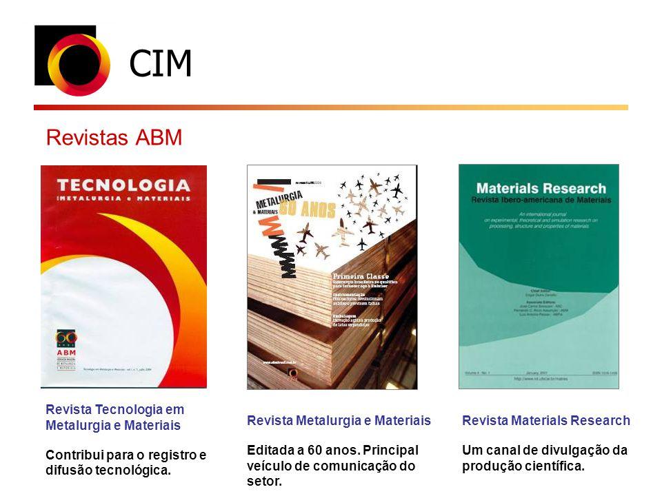 CIM Revistas ABM Revista Tecnologia em Metalurgia e Materiais