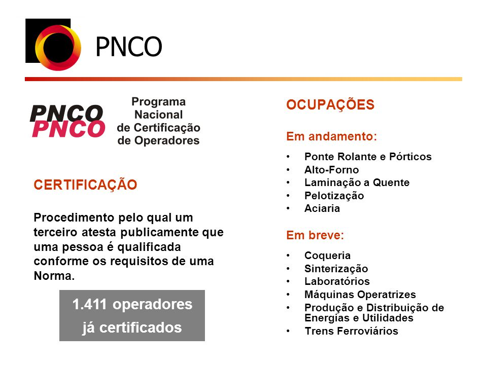 1.411 operadores já certificados