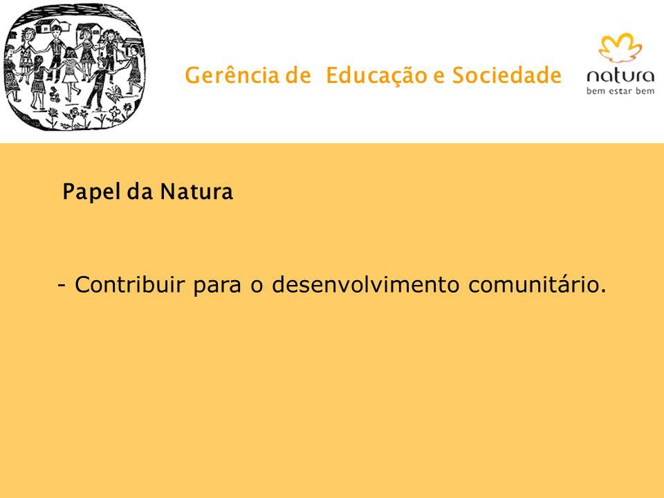 Gerência de Educação e Sociedade