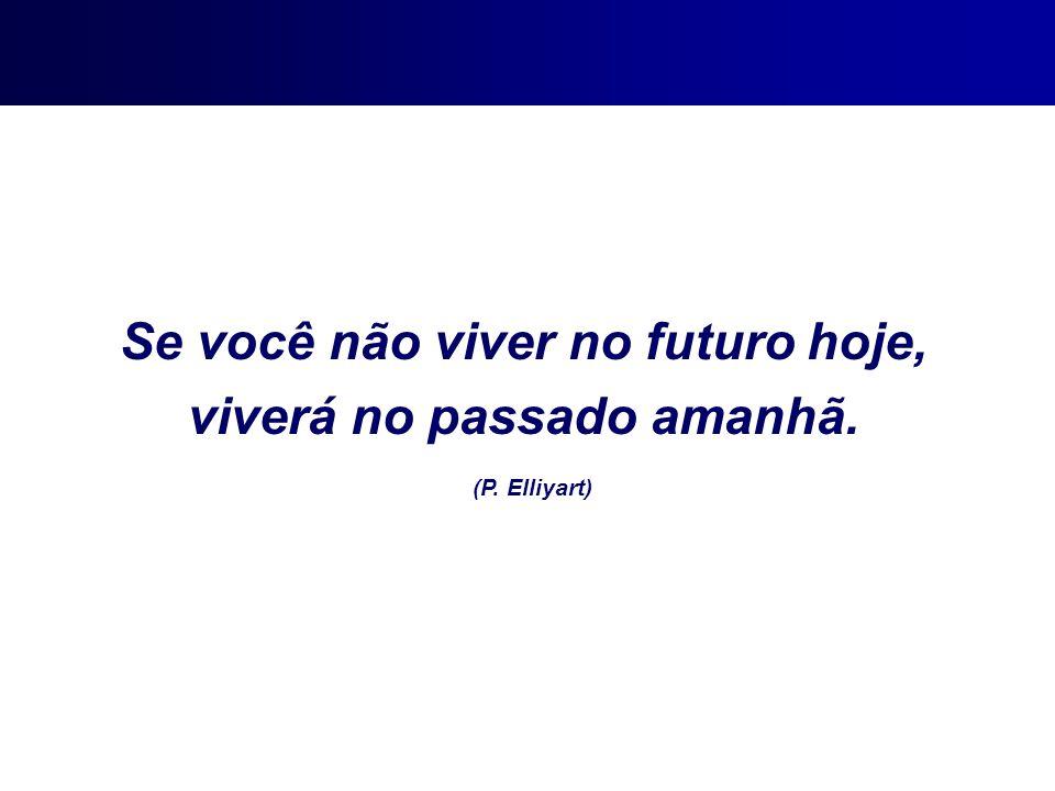 Se você não viver no futuro hoje, viverá no passado amanhã.