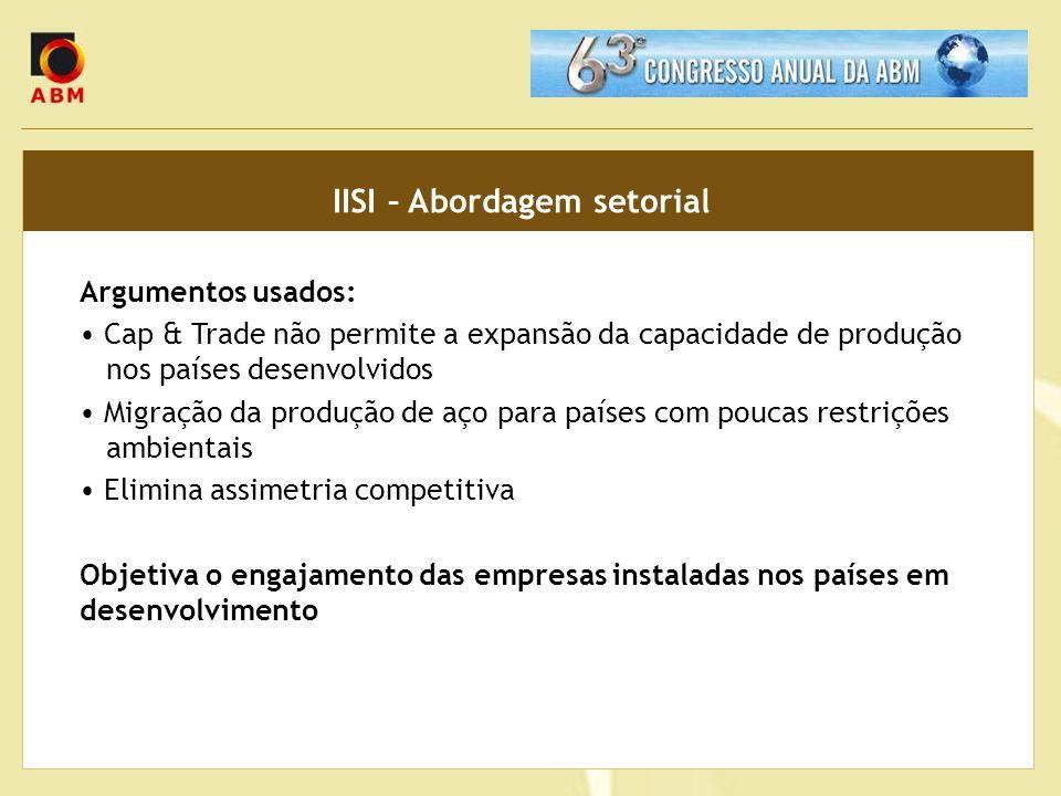 IISI – Abordagem setorial