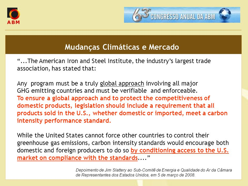 Mudanças Climáticas e Mercado