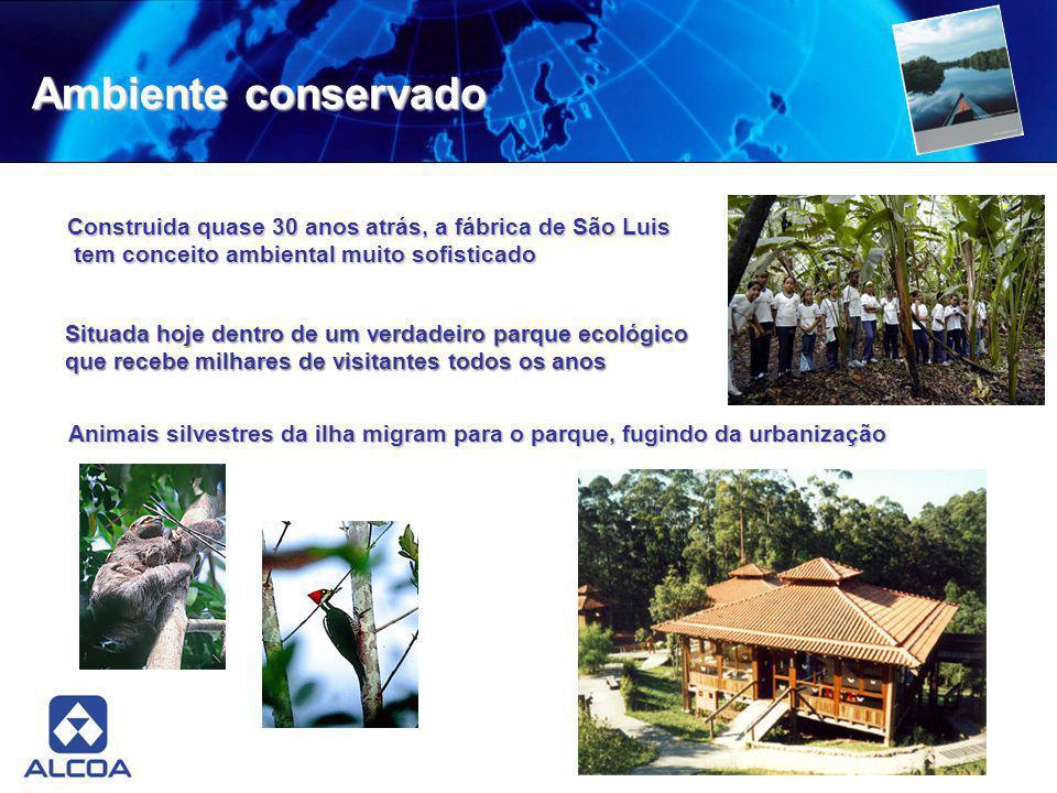 Ambiente conservado Construida quase 30 anos atrás, a fábrica de São Luis. tem conceito ambiental muito sofisticado.