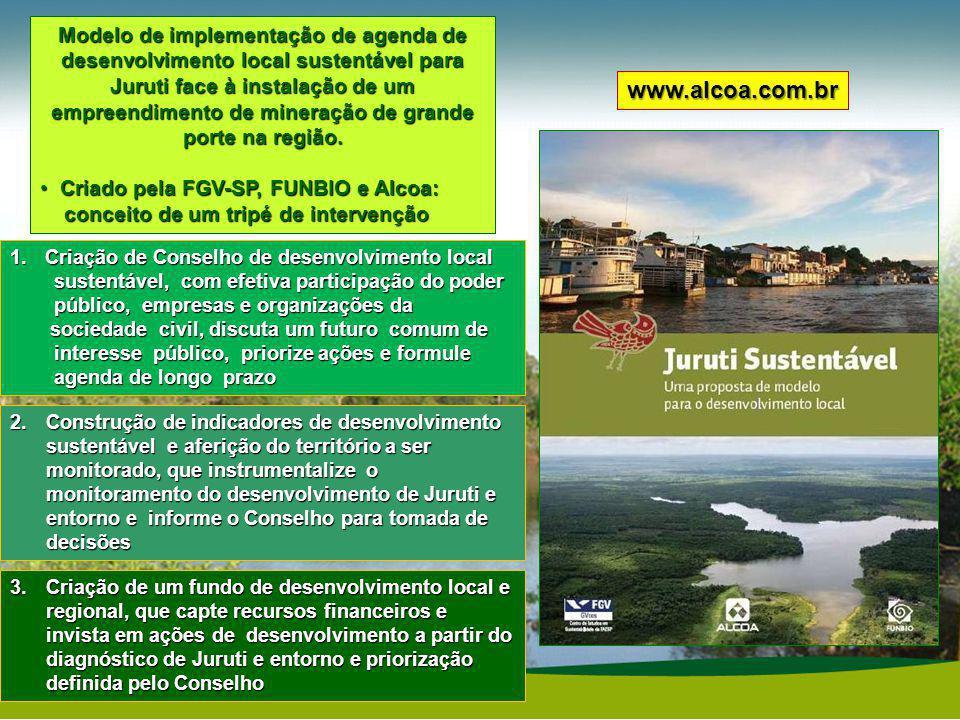 Modelo de implementação de agenda de desenvolvimento local sustentável para Juruti face à instalação de um empreendimento de mineração de grande porte na região.