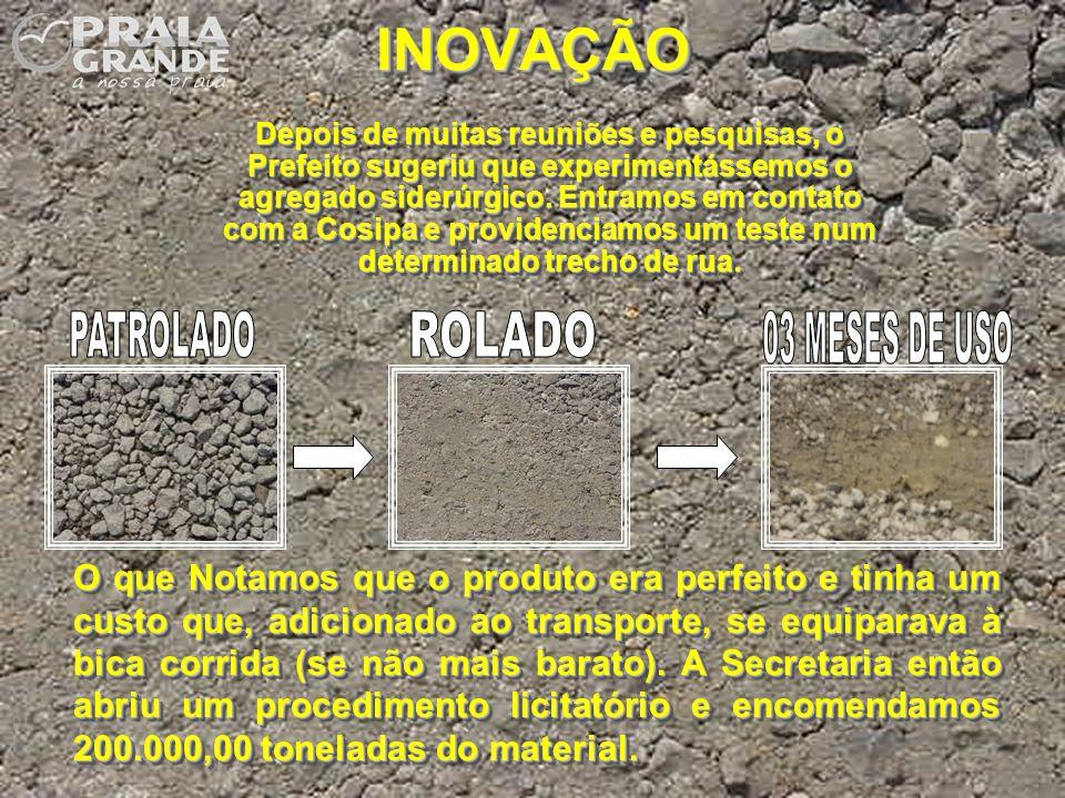 INOVAÇÃO PATROLADO ROLADO 03 MESES DE USO