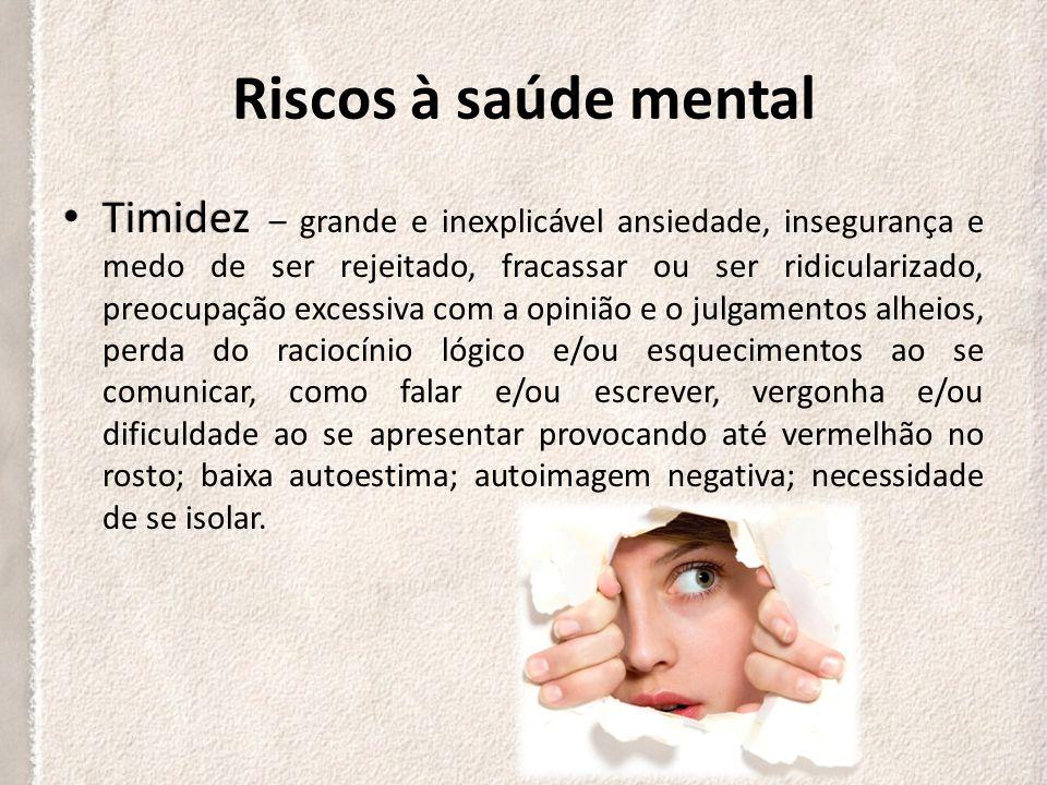 Riscos à saúde mental