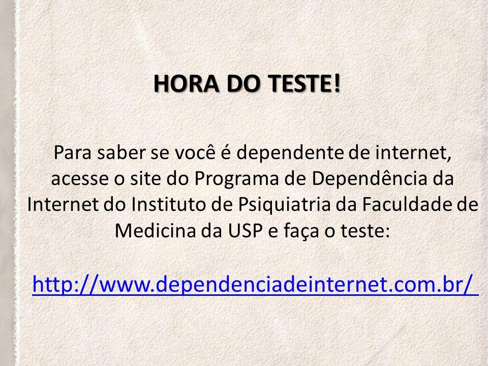HORA DO TESTE!