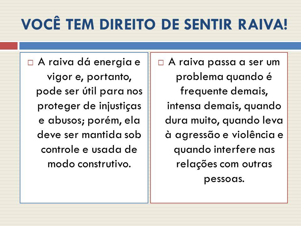 VOCÊ TEM DIREITO DE SENTIR RAIVA!