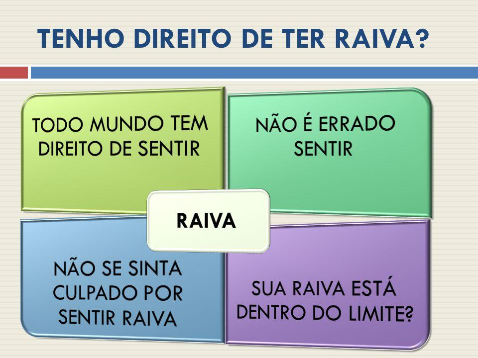 TENHO DIREITO DE TER RAIVA