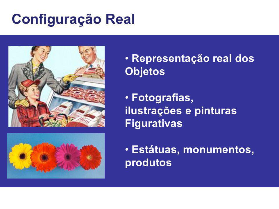 Configuração Real • Representação real dos Objetos • Fotografias,