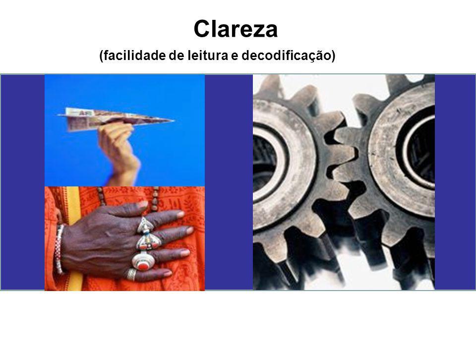Clareza (facilidade de leitura e decodificação)