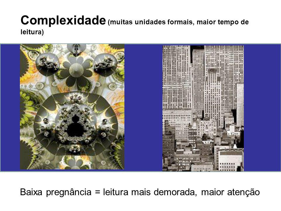 Complexidade (muitas unidades formais, maior tempo de leitura)