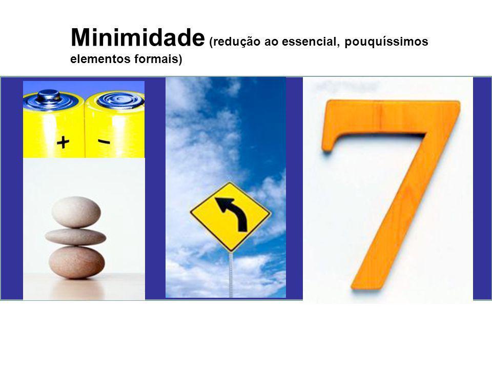 Minimidade (redução ao essencial, pouquíssimos elementos formais)