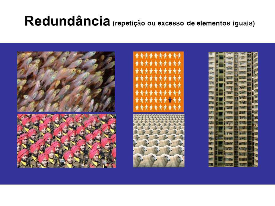 Redundância (repetição ou excesso de elementos iguais)