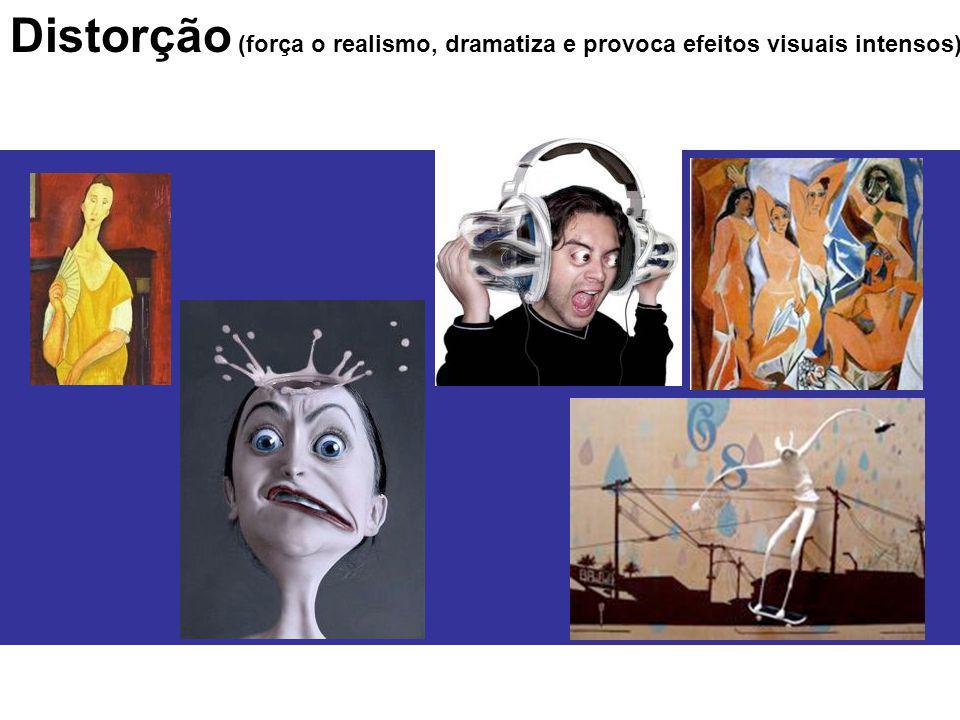 Distorção (força o realismo, dramatiza e provoca efeitos visuais intensos)