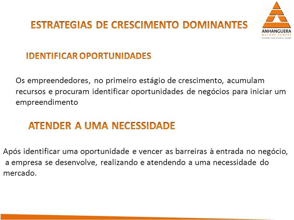 ESTRATEGIAS DE CRESCIMENTO DOMINANTES