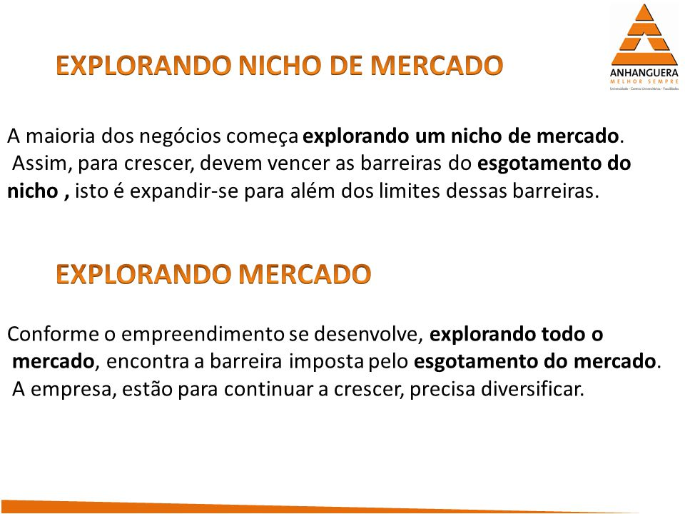 EXPLORANDO NICHO DE MERCADO